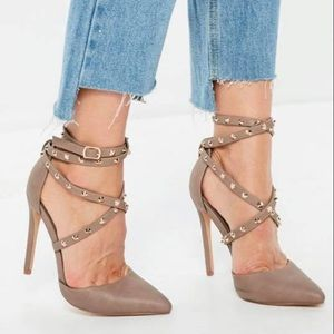 Misguided studded heels